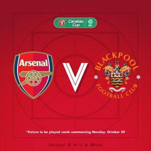 Kombe la Carabao-Arsenal yapangiwa na Blackpool raundi ya nne